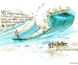 hollister, waves, and pacific image