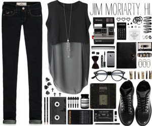 black, combat boots, and jim moriarty image