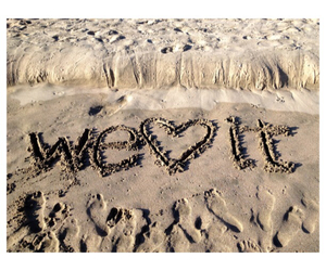 beach, we heart it, and sand image