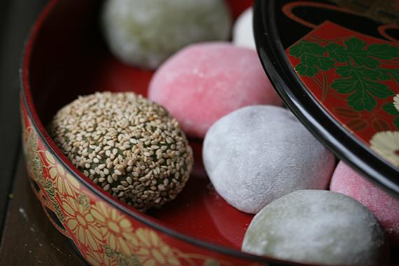 Daifuku Mochi (Sweet Rice Cake) Eating Japan