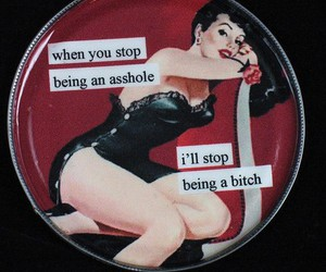 vintage, Pin Up, and bitch image