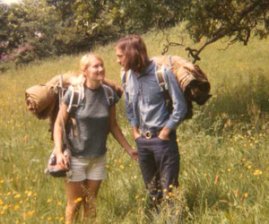 couple, hippie, and nature image