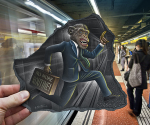 animal, Barcelona, and Cartoon Art image