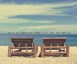 beach, love, and text image