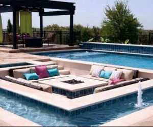 couch, house, and pool image