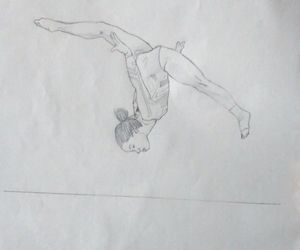 competition, drawing, and gymnast image