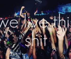 party, live, and shit image