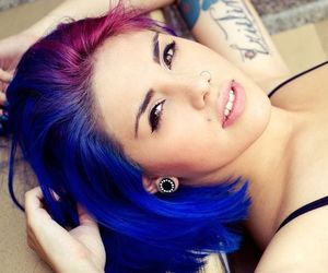 dyed hair, hair color, and hair color crazy image