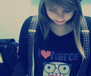 girl and nerd image