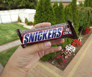 snickers, chocolate, and food image
