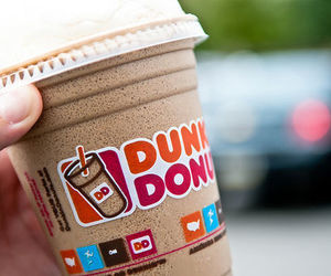 dunkin donuts, food, and drink image