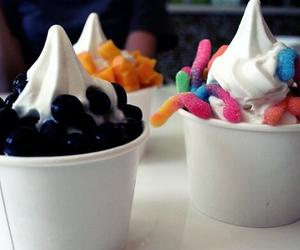 food, frozen yogurt, and dessert image