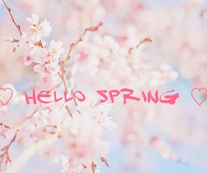 spring and hello image