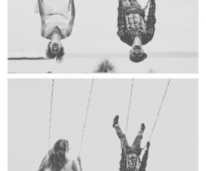 love, couple, and swing image