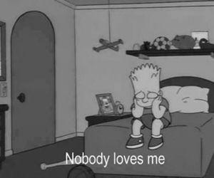 love, sad, and simpsons image