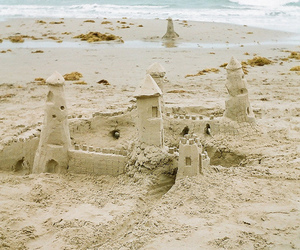 beach, sea, and sand image