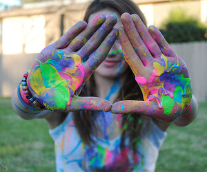 colorful, girl, and pretty image