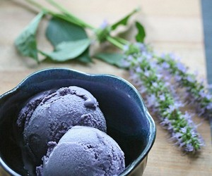 ice cream, food, and blueberry image