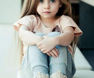 blue eyes, cute, and little girl image
