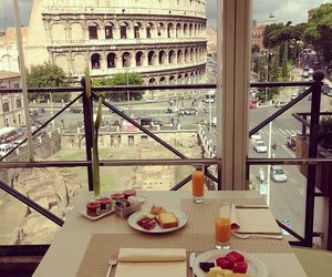 breakfast, colosseum, and good morning image