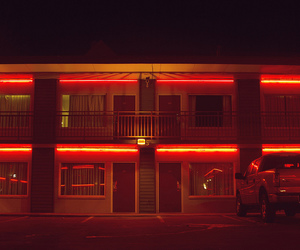 car, motel, and red light image
