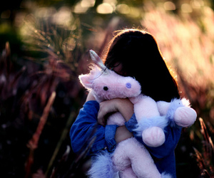 girl, unicorn, and photography image
