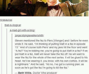 doctor who, fez, and matt smith image