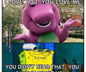 barney, spongebob, and lol image