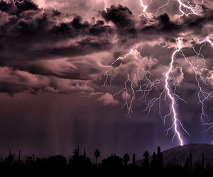 lightning, clouds, and storm image