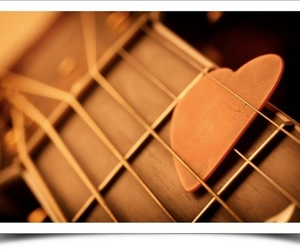 guitar, heart, and music image