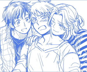 hetalia, bad touch trio, and bad friends trio image