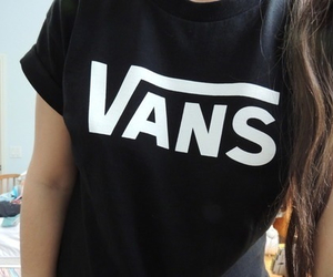 vans, black, and hair image