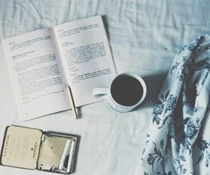 book, coffee, and cigarette image