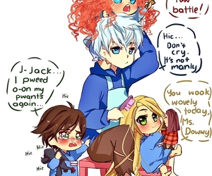 merida, hiccup, and jack frost image