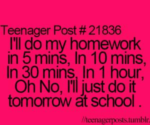 homework, school, and funny image
