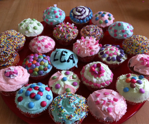 bday and cupcakes image