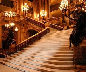 stairs, luxury, and Phantom of the Opera image