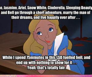 alice, disney, and funny image