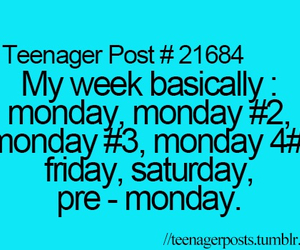monday and teenager post image