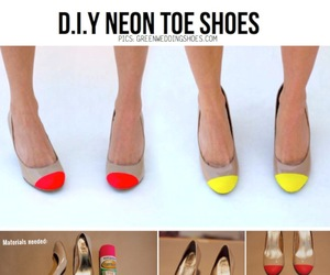 diy, shoes, and neon image