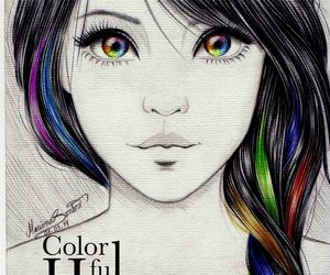 colorful hairs image