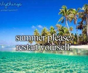 summer, beach, and restart image