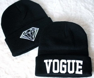 black, diamonds, and vogue image