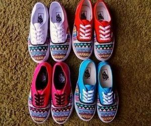 vans, shoes, and aztec image
