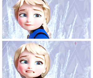 scared, stay away, and elsa image