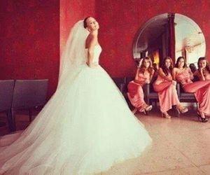 girl, wedding dress, and wedding image