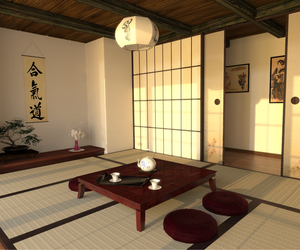 japan, room, and tatami image