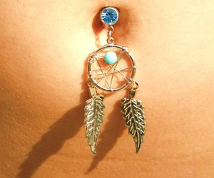 piercing, dream catcher, and dreamcatcher image