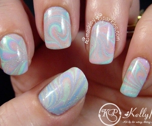 grunge, lavender, and nail art image
