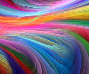 color, rainbow, and waves image